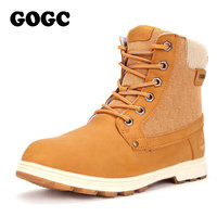 GOGC 2018 Warm Ankle Boots Women Plus Size New Fashion Woman Snow Boots Female Square Heel Martin Boots Suede Winter Shoes Women