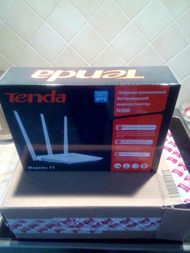 Wi-Fi роутер Tenda F3 (N300)  2,4 ГГц