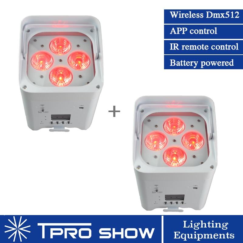 2 шт. Беспроводной светодиодный прожектор par с мультичипом RGBWA УФ до Аккумулятор для осветительных приборов работает освещение мини сцены мо