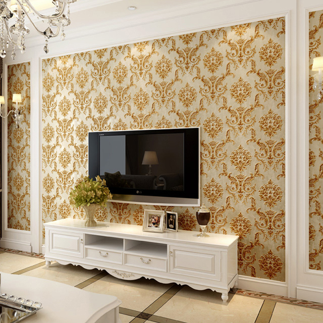 Modern Design Living Room 2018 Bat New Classic Europe Damascus Wallpaper 3d Decor Vintage Wall Papers Roll Self Adhesive Papel Tapiz Qz014