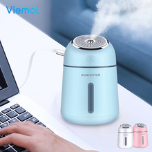 Viemol 330ML 3 in 1 Creative Small Q Humidifier Essential Oil Diffuser Aroma Lamp LED Night Light USB Fan Aromatherapy Air Purif(China)