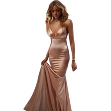 Cinderella Sexy Champagne Spaghetti Straps Floor Length Mermaid Satin Bridesmaid Dresses Pink Wedding Party