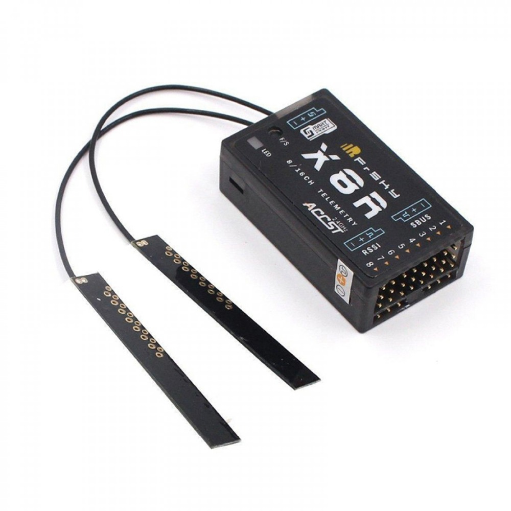 FrSky ACCST X8R 8/16ch receiver for XJT, Taranis X9DPlus, Horus X12S, SMARTPORT and SBUS function цены