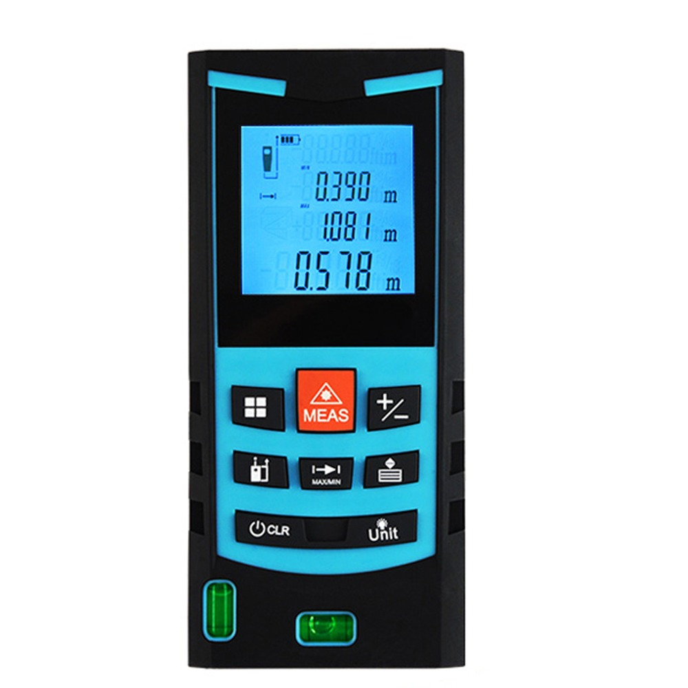 Digital Laser Meter 80M Range Finder with Bubble Level Measure Area Volume Pythagoras Meter Feet Inches Units Construction ToolDigital Laser Meter 80M Range Finder with Bubble Level Measure Area Volume Pythagoras Meter Feet Inches Units Construction Tool