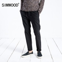 SIMWOOD 2019 Spring Casual Men Slim Fit Ankle-Length Pants Male Plus Size Trousers
