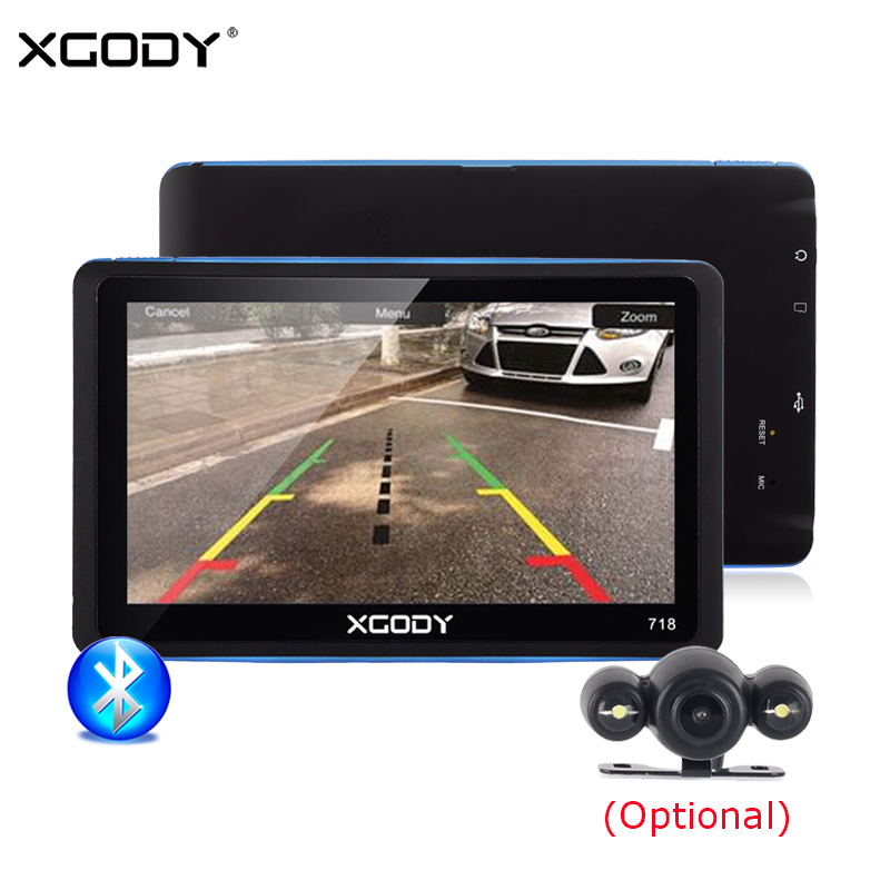 XGODY GPS Navigation Reverse-Camera Bluetooth Touch-Screen Sat Nav Europe-Map 7inch 8GB
