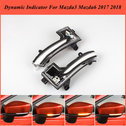 Dla Mazda3 Mazda 3 Axela Mazda6 Mazda 6 Atenza 2017 2018 LED dynamiczny kierunkowskazów migacz sekwencyjne lusterko boczne wskaźnik światła|Lampy sygnałowe|   -