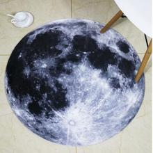 Alfombra creativa de felpa redonda con estampado de 30 luna/sala de estar vintage para, alfombra para mesita de noche, alfombra para dormitorio, silla y ordenador