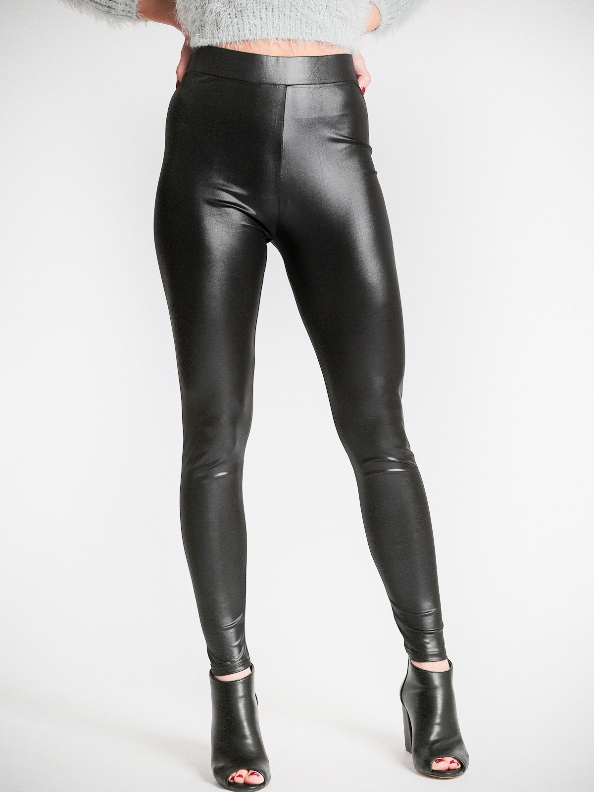 Black Skinny Slim Bright Color Legging