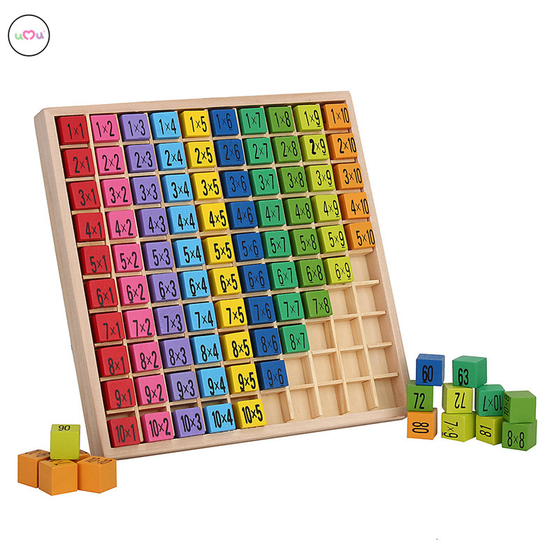 Umu math toy baby wooden toys 99 multiplication table for Multiplication table to 99