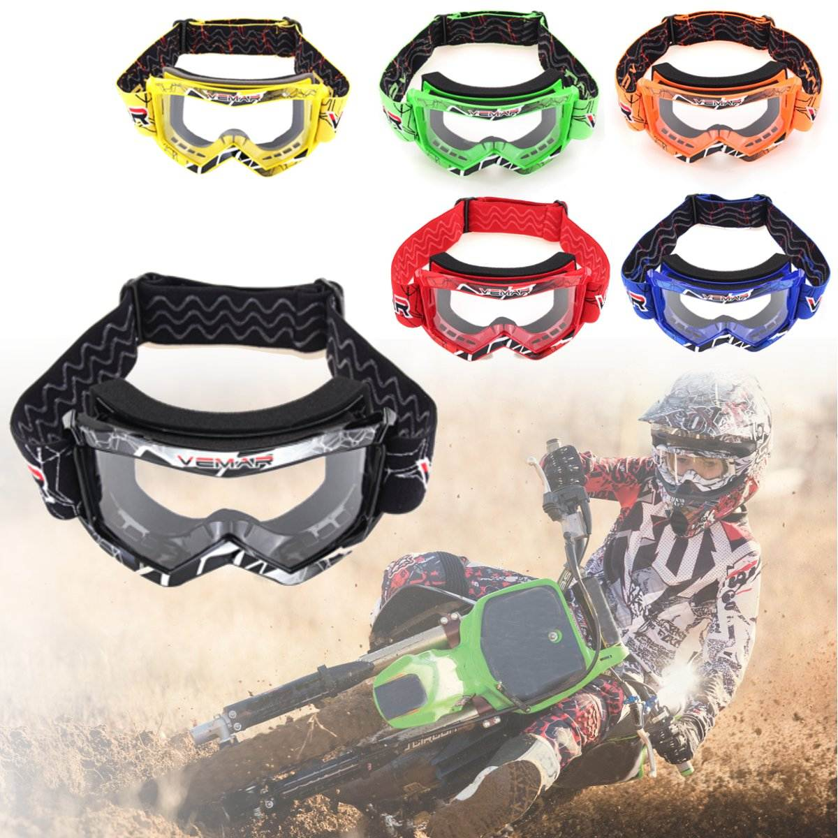 Children Kids Cool Goggles Off Road Motorcycle Motocross Racing Dirt Bike Anti-UV Eyewear New Adjustable Flexible Protect Face crf50 frame battery box dirt pit bike case holder off road motorcycle apollo 110 chinese motocross