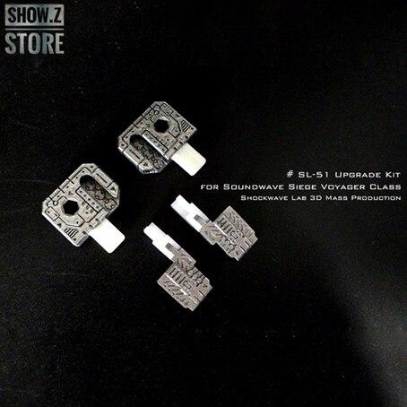 [Spettacolo. Z Store] Shockwave Lab SL SL-51 SL51 Dipinta Kit di Aggiornamento per SG-24 SG24 Assedio Soundwave Trasformazione Action Figure
