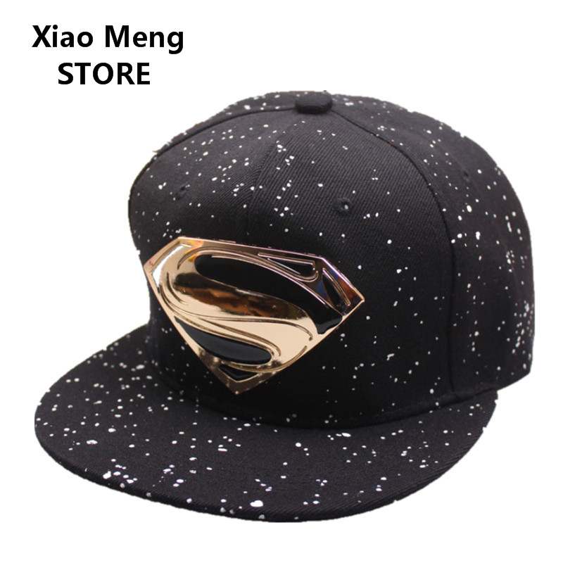 2018 Summer Adjustable Superman Batman Baseball Caps Gorras Planas For Men  Women Hip Hop Hat Outdoor ... ca185a3935b