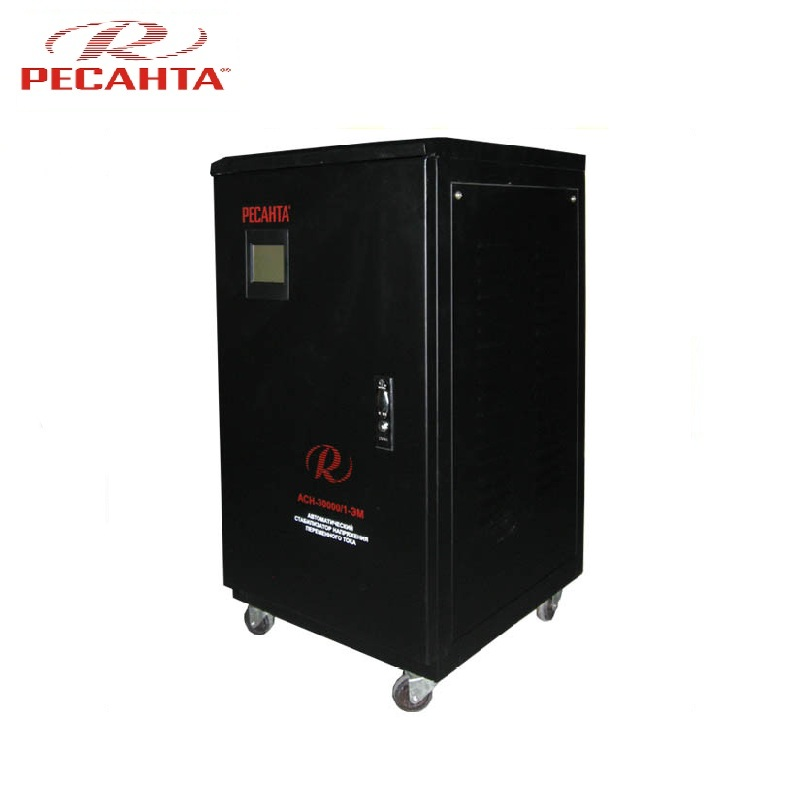 Single phase voltage stabilizer RESANTA ASN 30000/1-EM Voltage regulator Monophase Mains stabilizer Surge protect Power stab single phase voltage stabilizer resanta asn 500 1 em voltage regulator monophase mains stabilizer surge protect power stab