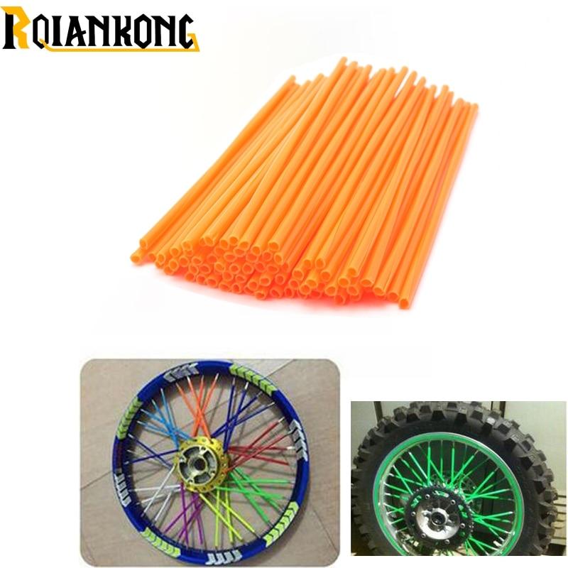 72Pcs Wheel RIM Spoke Skins Sticker Accessories Dirt Bike For KTM XCF XCRW EXCR EXC SXF SXR XCW SX 65 85 105 125 150 200 250 300 for ktm excr