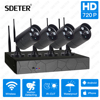 SDETER Wireless CCTV Security System 4CH 720P NVR Kit Surveillance System IR Night Vision Outdoor CCTV