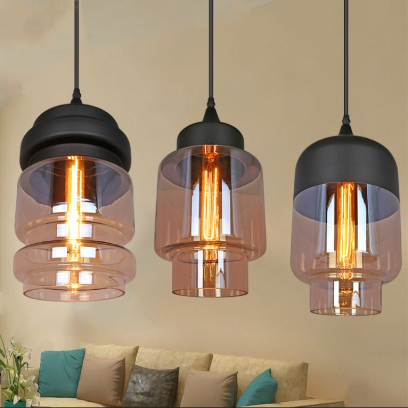 American Style Retro Concise Fashion Glass Pendant Light Cafe Bar Restaurant Bedroom Livingroom Decoration Lamp Free Shipping modern simple retro industrial style ceiling light livingroom bedroom restaurant cafe decoration lamp free shipping