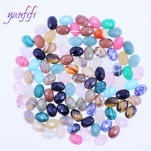 Natural stone, Mixed-Colored Cut Ellipse Ring Beads