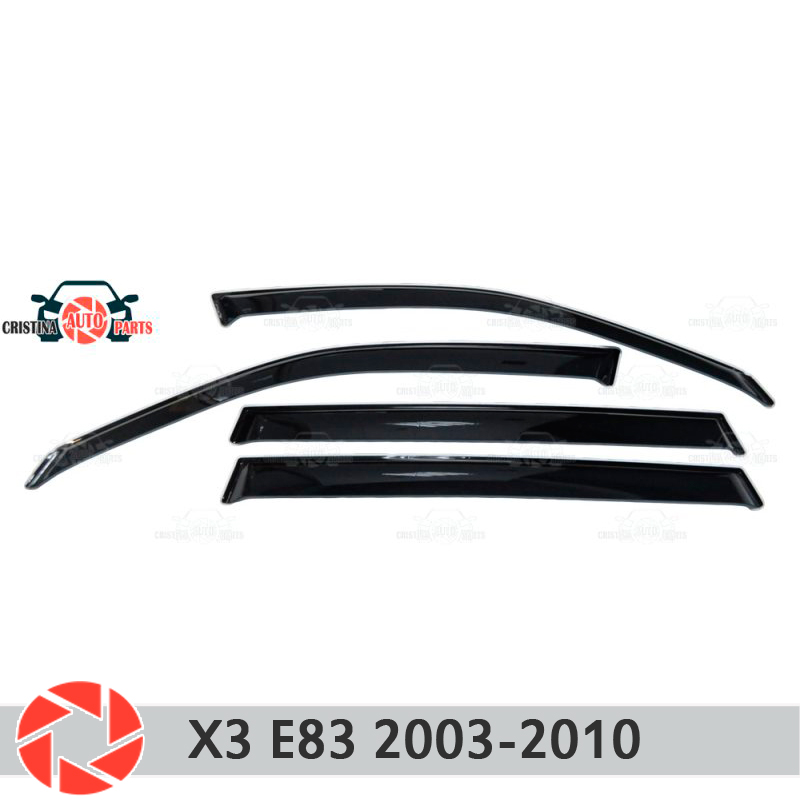Window deflector for BMW X3 E83 2003-2010 rain deflector dirt protection car styling decoration accessories molding car styling for bmw