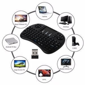 Image 2 - لوحة مفاتيح صغيرة لاسلكية من Mecool i8 لوحة مفاتيح إنجليزية مع لوحة مفاتيح متعددة الوظائف للألعاب وهي لوحة مفاتيح للحاسوب الشخصي HTPC وسامسونج صندوق تلفاز ذكي