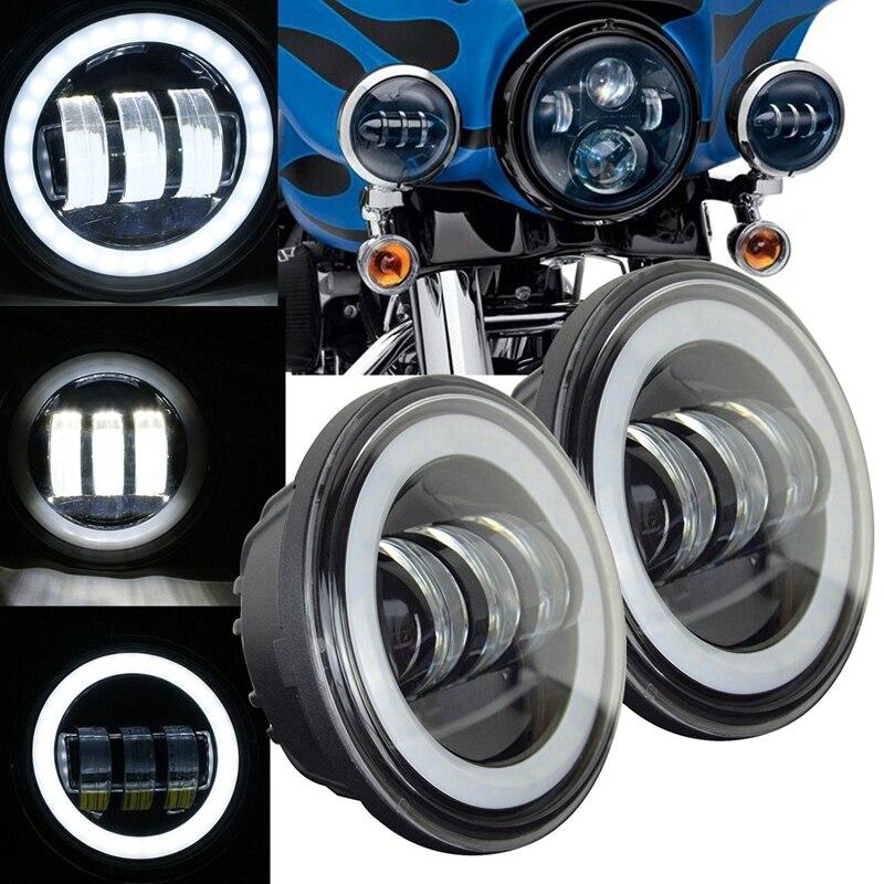 7 pouces 60 w pour Harley moto phare LED + 2x4.5 30 w feux de croisement antibrouillard pour Harley moto rcycle7 pouces 60 w pour Harley moto phare LED + 2x4.5 30 w feux de croisement antibrouillard pour Harley moto rcycle