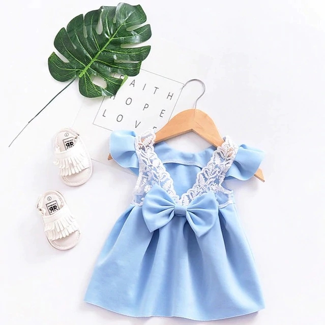 fc59a1d33b409 2018 Summer Hot Selling Girl Sling With Sleeveless Bow Tie Sweet Baby New  Children Print Dress Princess Dresses