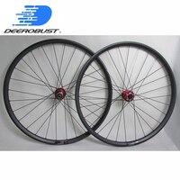 30mm External Width Mountain Bike Trail/AM Carbon Wheels Thru Axle Clincher Tubeless 27.5er/650B 29er Hookless MTB Wheel set