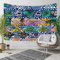 Else Blue Purple Yelow Stripe Lines Flower Geometric 3D Print Decorative Hippi Bohemian Wall Hanging Landscape Tapestry Wall Art