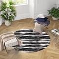Черный  розовый  белый  волнистые полосы  3d принт  противоскользящие круглые ковры  ковер для гостиной  ванной комнаты