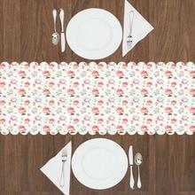 Mantel de comedor de cocina moderno con patrón de impresión 3d de dulce pastel de copa rosa