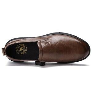 Image 3 - KAMEEL Herfst Nieuwe Toevallige mannen Instappers Mannen Echt Lederen Schoenen Mode mannen Business Lichtgewicht Elastische Slip Mannen Schoenen