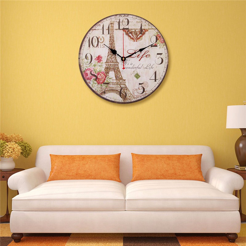 Vintage Rustic Chic Retro Wooden Wall Hanging Digital Clock Home ...