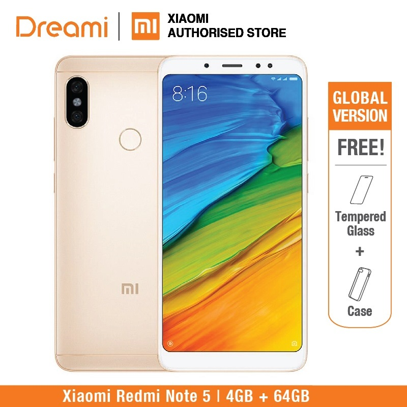 グローバルバージョンXiaomi Redmi Note 5 64GB ROM 4GB RAM(OFFICIAL ROM)redmi note 5