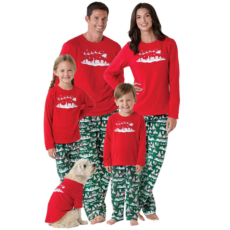 christmas retro family matching clothes family pajamas