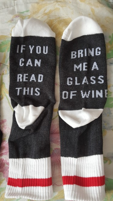 IF YOU CAN READ THIS, BRING ME A GLASS OF WINE SOCKS photo review