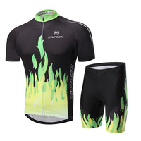 Summer 2016 XINTOWN Cycling Jerseys 2017 Outfit Green Fire Cycling High Quality Sports Jerseys