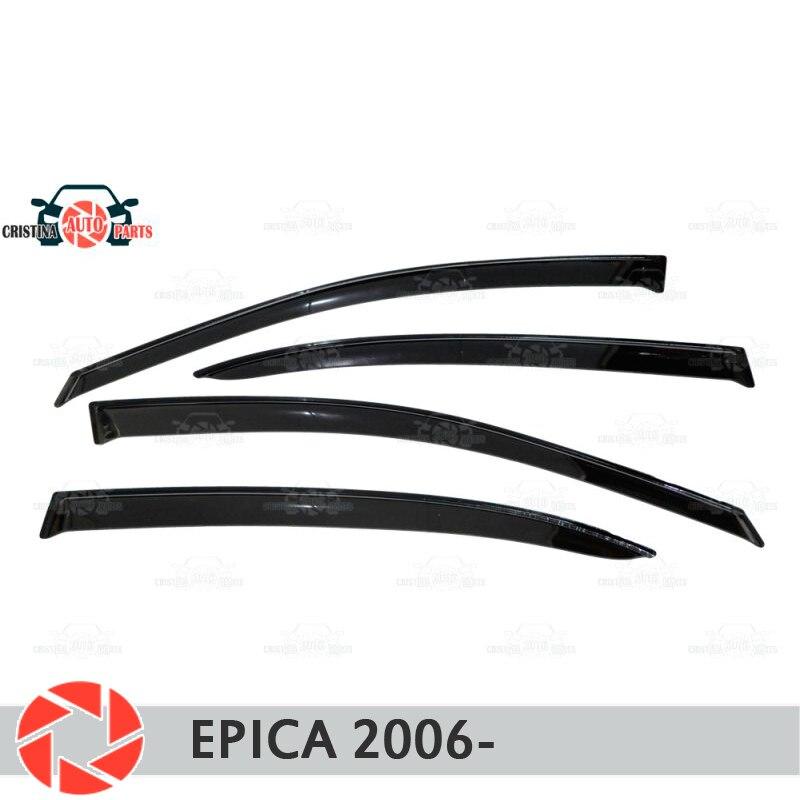 Deflector janela para Chevrolet Epica 2006-chuva deflector sujeira proteção styling acessórios de decoração do carro de moldagem