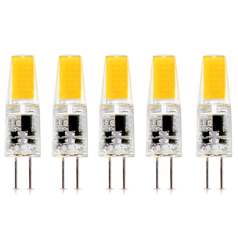5Pcs/lot G4 AC DC 12V Dimmable Led Bulb Lamp SMD 1.5W 3W  Replace Halogen Lamp Light 360 Beam Angle Luz Lampada Led