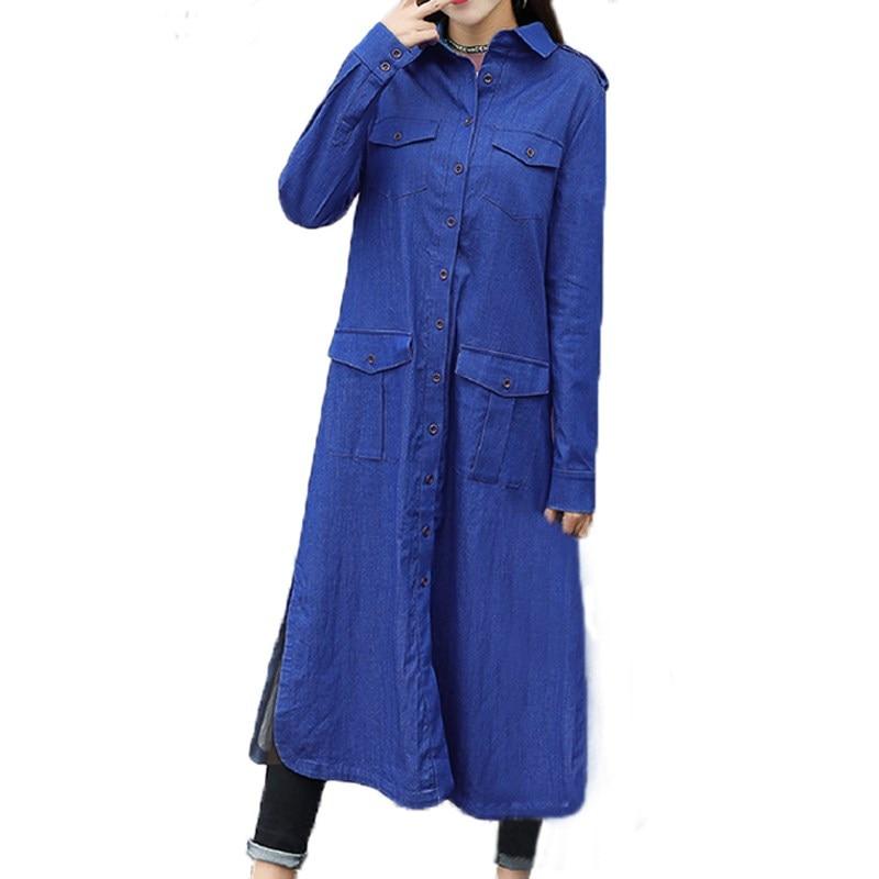 ZANZEA Women Buttons Down Denim Jeans Long Sleeve Tops Blusas Winter Autumn Female Turn-down Casual Loose Coat Jacket Cardigan