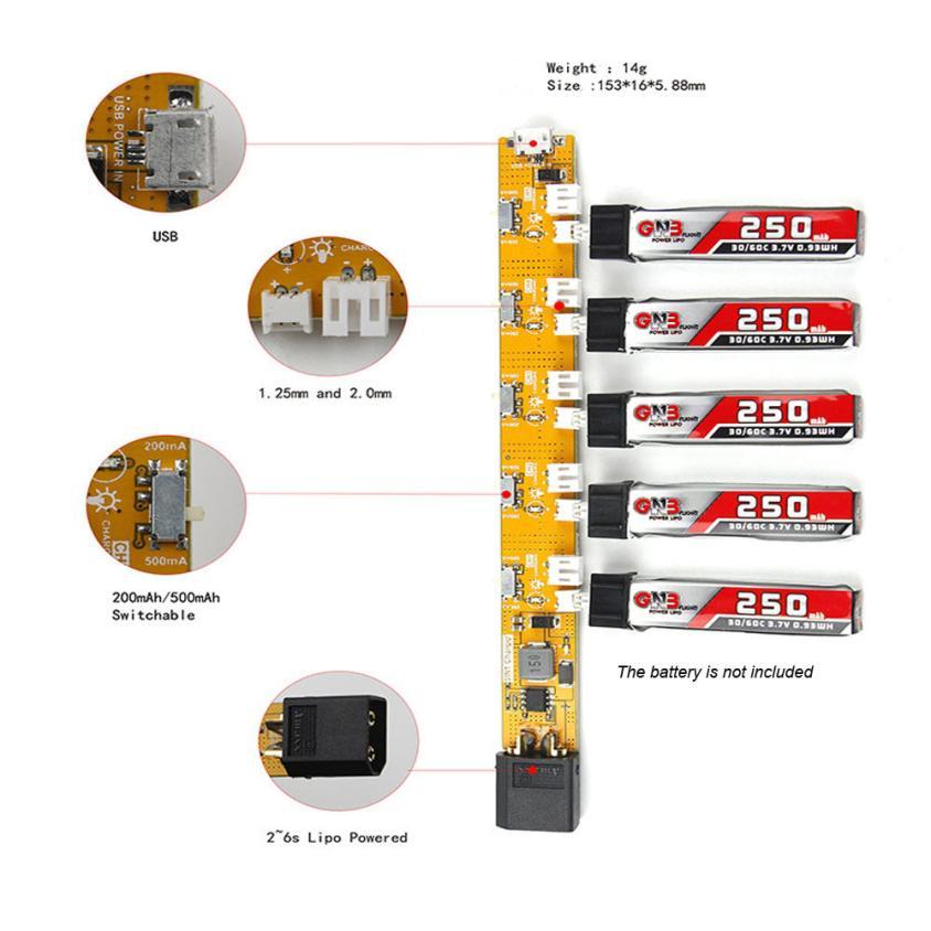 1 s 3.7 В lipo Батарея Зарядное устройство с микро JST 1.25 JST-рн 2.0 для bladeinductrix крошечные Whoop Нибиру e010 e010ciuneed магазин игрушек