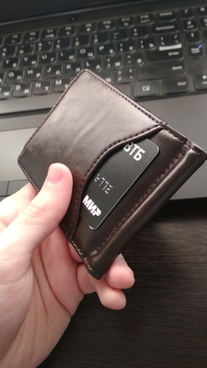 COHEART Top Quality Wallet Men Money Clip Mini Wallets Male Vintage Style Brown Grey Hasp Purse Leather Card Holers with Clamp photo review