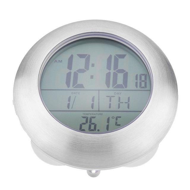 Muur Waterdichte Temperatuur Hygrometer Klok Zuignap Badkamer ...