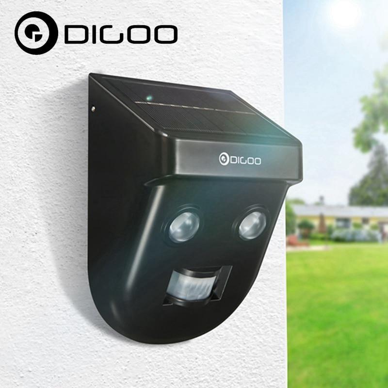 Digoo DG-SSR-1 Gardening Solar Wireless PIR Sensor Long Distance Waterproof Outdoors Wall Light for Personal Home Security digoo dg th1177 th1177 wireless digital