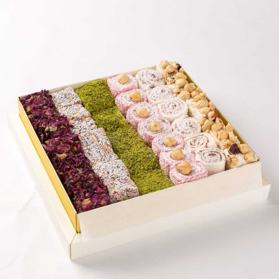 NEW! Mixed Sultan Turkish Delight 1000gr (35 Oz.) %100 ORIGINAL