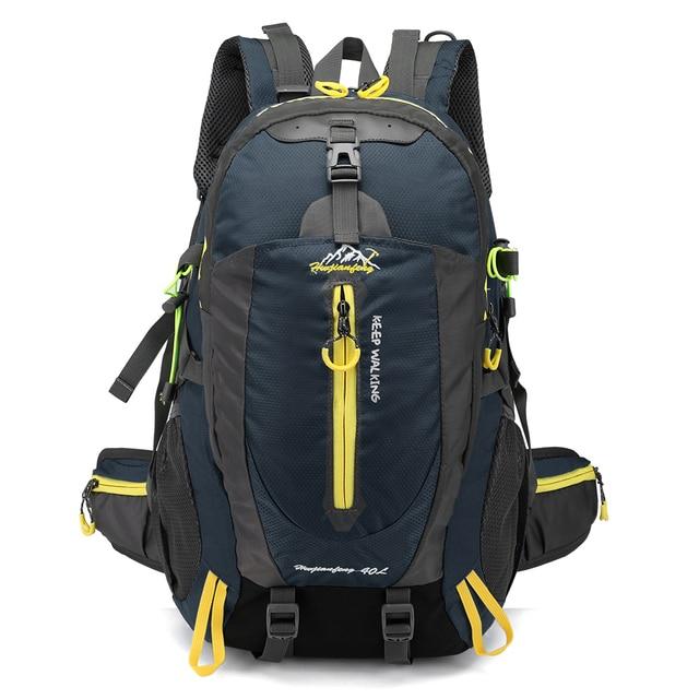 c0aa25594ab 40L Waterproof Climbing Backpack Bike Bicycle Bag Travel Camp Hike Laptop Daypack  Trekking Rucksack Outdoor Men Women Sport Bag