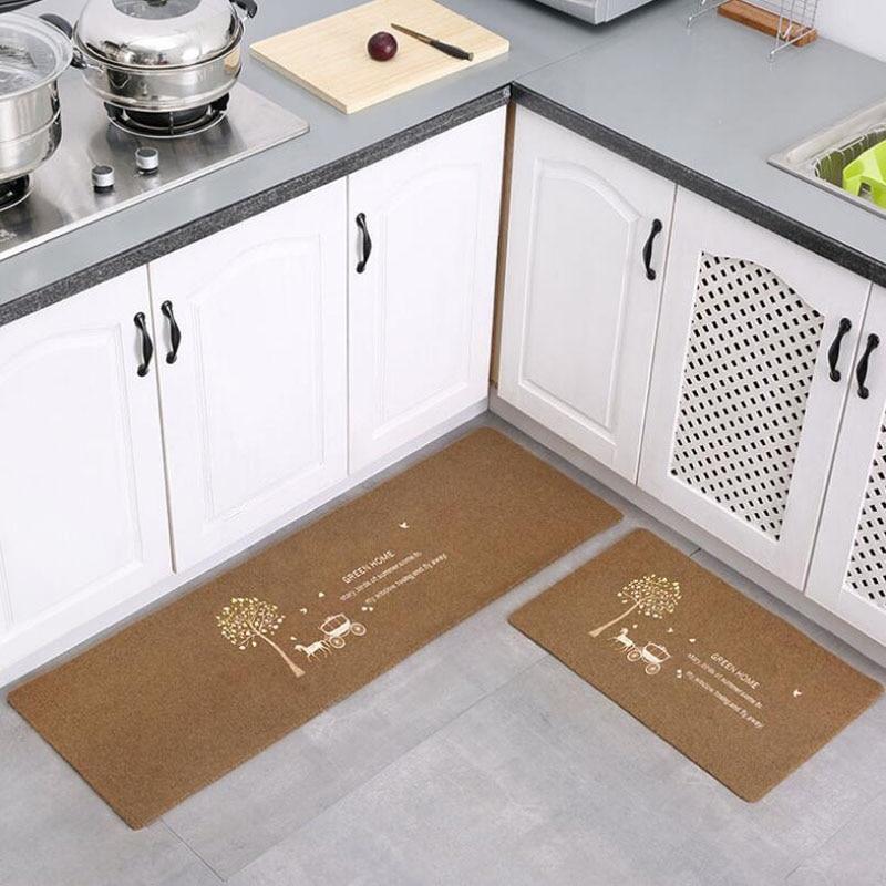 2pcs/set anti slip embroider home entrance carpet washable