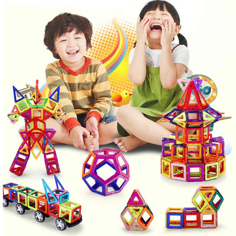 50 stücke Kinder DIY 3D Magnetblöcke Bau Gebäude Spielzeug Große Größe Box