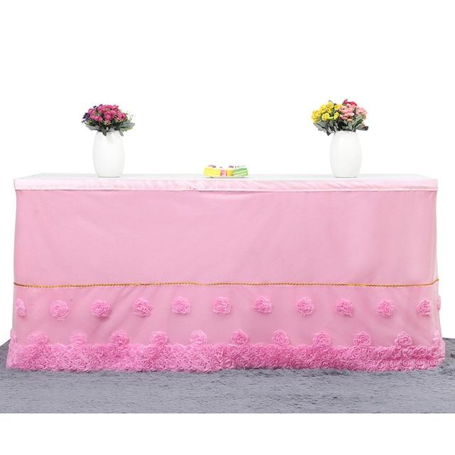 new design elegant wedding table skirting tutu table skirt baby