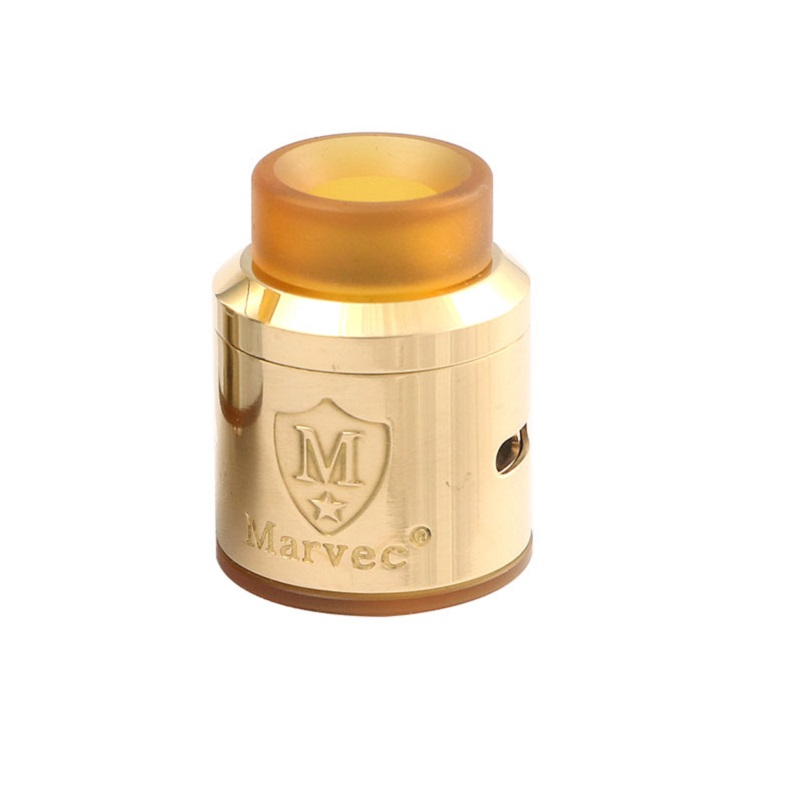 Marvec Dark Knight 24.5mm RDA PEI Wide Bore Drip Tip Vape Tank Single/Dual Coil Rebuildable Dripping Atomizer For Mech Mod