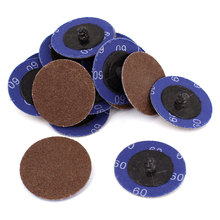 UXCELL Sander 50Mm 2Inch Dia 60 Grit Sandpaper Sanding Polishing Discs Wheel 20Pcs